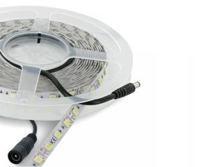 Taśma LED jednokolorowa SMD5050 5m 60szt/m 12W/m 12V chłodna barwa 06888 Whitenergy