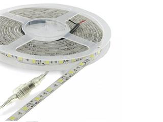 Taśma LED jednokolorowa SMD5050 5m 60szt/m 12W/m 12V IP67 wodoodporna ciepła barwa Whitenergy