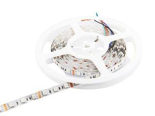 Taśma LED wielokolorowa RGB 5m 60szt/m 5050 14,4W/m RGB bez konektora RGB Whitenergy