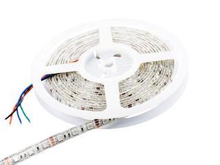 Taśma LED wielokolorowa RGB 5m 60szt/m 5050 14,4W/m RGB IP67 bez konektora RGB Whitenergy