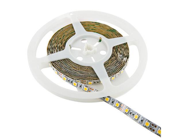 Taśma LED jednokolorowa 5m 60szt/m 5050 12W/m z konektorem ciepła barwa 08360 Whitenergy