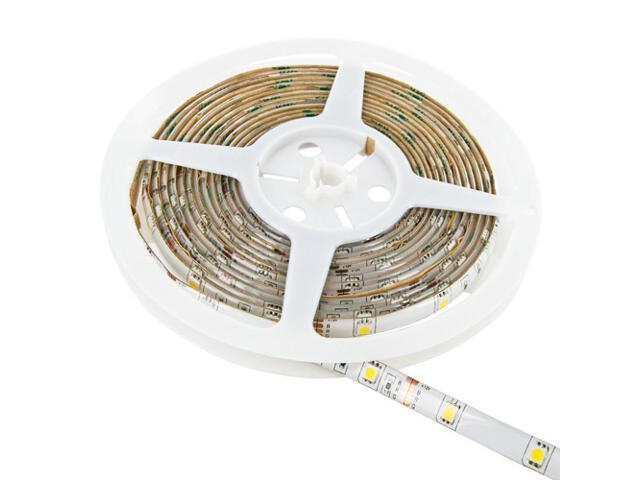Taśma LED jednokolorowa 5m 30szt/m 5050 7,2W/m IP65 z konektorem ciepła barwa 08382 Whitenergy