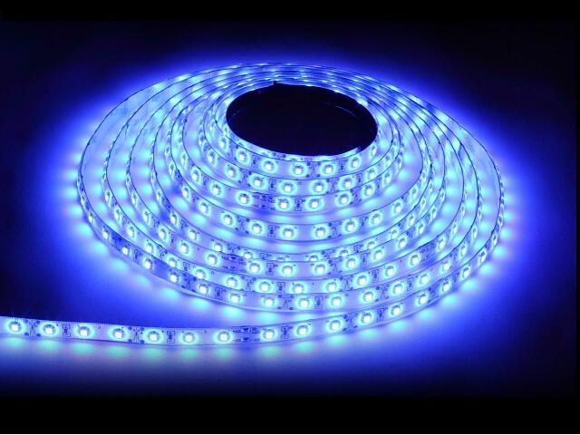 Taśma LED jednokolorowa 300 SMD niebieska IP20 5m Max-led