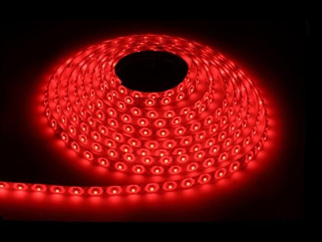 Taśma LED jednokolorowa 300 SMD czerwona IP54 5m Max-led