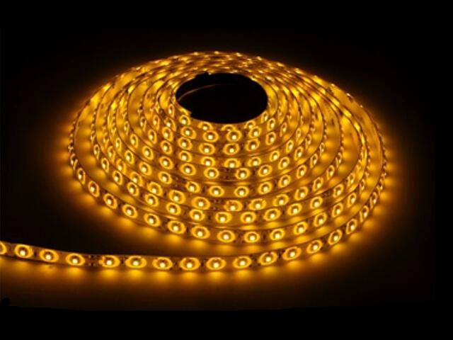 Taśma LED jednokolorowa 300 SMD żółta IP54 5m Max-led
