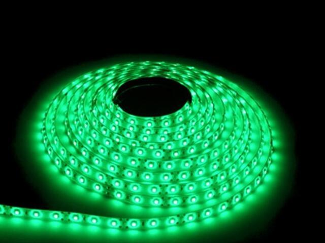 Taśma LED jednokolorowa 300 SMD zielona IP54 5m Max-led