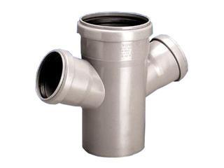 Czwórnik kanalizacyjny PP wew. HT jednopłaszczyznowy 75x75x75x67° popiel Wavin