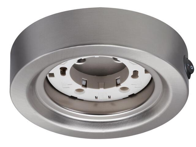 Oprawa podszafkowa Micro Line Disc ESL okrągła max.13W GX53 żelazo satyna Paulmann