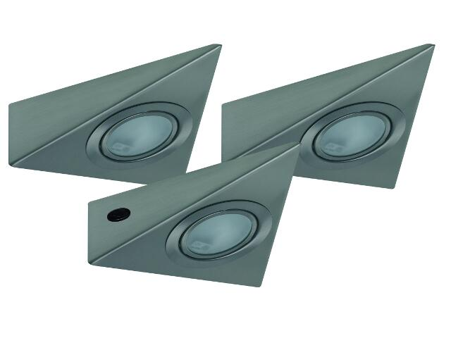 Oprawa podszafkowa Micro Line trójkątna Allround 3x20W G4 żelazo Sat Paulmann