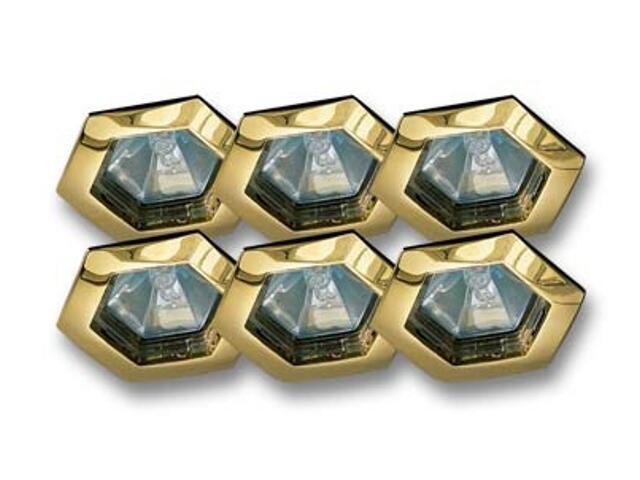 Zestaw opraw wbudowanych Hexa 6 szt. złote 6x35W Paulmann