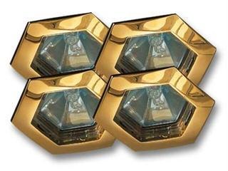 Zestaw opraw wbudowanych Hexa 4x35W złote 4szt. Paulmann