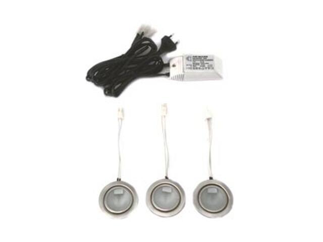 Oprawa podszafkowa CLASSIC 3 zestaw 3x20W G4 satynowa srebrna ANS