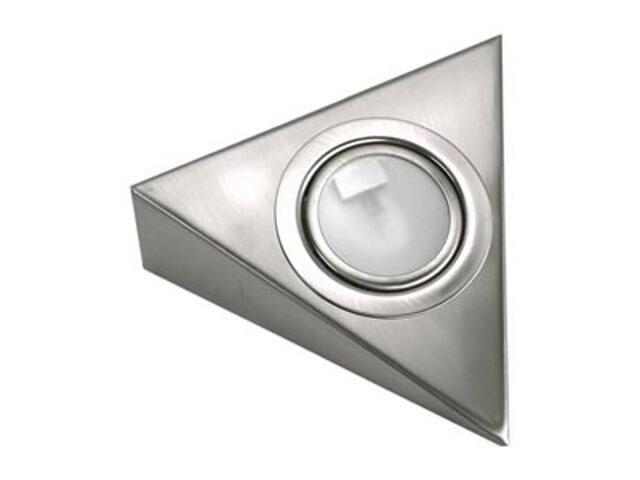 Oprawa podszafkowa trójkąt 20W G4 KH 0807 satynowa srebrna ANS