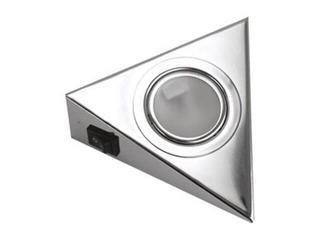 Oprawa podszafkowa trójkąt z wyłącznikiem 20W G4 KH 0807 srebrna ANS