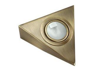 Oprawa podszafkowa trójkąt 20W G4 KH 0807 matowa złota ANS