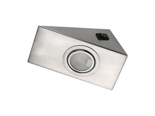 Oprawa podszafkowa z wyłącznikiem 20W G4 KH 0808 satynowa srebrna ANS