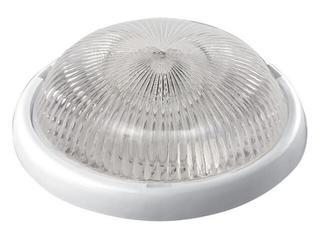 Plafon przemysłowy hermetyczny LUNA 1x100W E27 biały klosz przezroczysty Lena Lighting