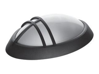 Plafon przemysłowy hermetyczny ELIPTIC 1x60W E27z 1 przesłoną czarny klosz matowy Lena Lighting