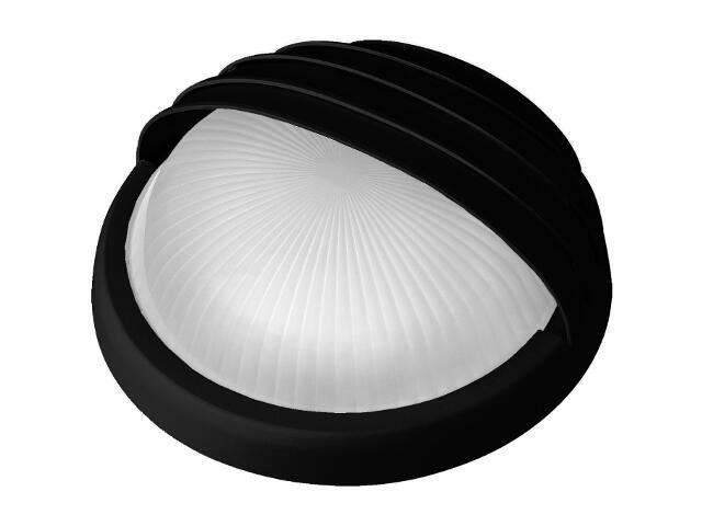 Plafon przemysłowy hermetyczny LUNA z przesłoną -N 1x75W E27 czarny klosz matowy Lena Lighting