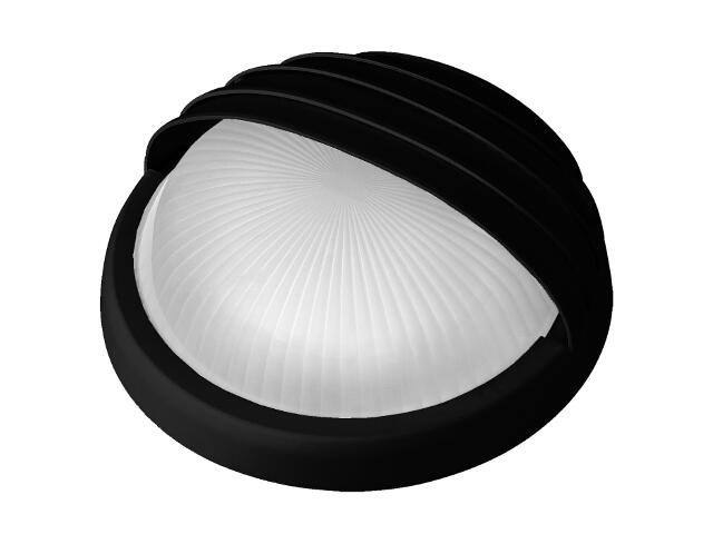 Plafon przemysłowy hermetyczny LUNA z przesłoną -N 2x9W G23 czarny klosz matowy Lena Lighting