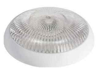 Plafon przemysłowy hermetyczny SATURN 1x75W 230V biały klosz pryzmatyczny Lena Lighting