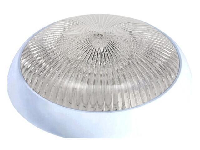 Plafon hermetyczny SATURN 2x18W 230V srebrny, klosz bezbarwny Lena Lighting