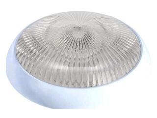 Plafon przemysłowy hermetyczny SATURN 1x75W 230V srebrny klosz pryzmatyczny Lena Lighting