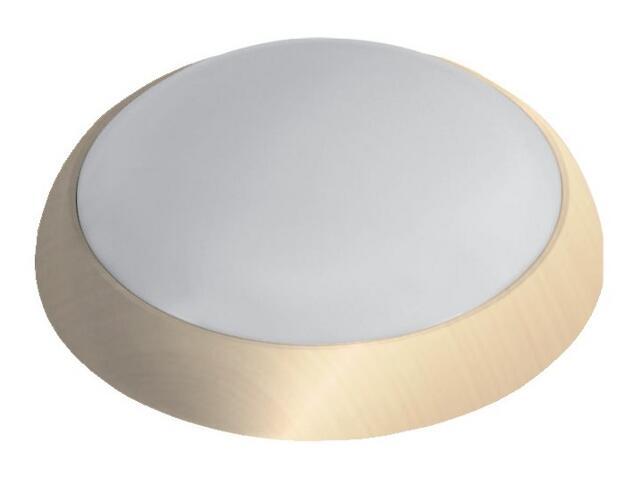 Plafon hermetyczny SATURN 1x28W 230V złoty, klosz matowy Lena Lighting