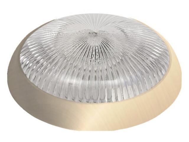 Plafon hermetyczny SATURN 1x28W 230V złoty, klosz bezbarwny Lena Lighting