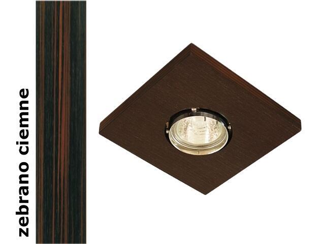 Oprawa punktowa sufitowa OCZKO STROPOWE kwadratowe zebrano ciemne 1199K1G206 Cleoni