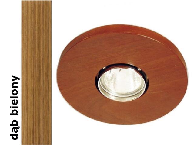 Oprawa punktowa sufitowa OCZKO STROPOWE okrągłe dąb bielony 1199O1G208 Cleoni