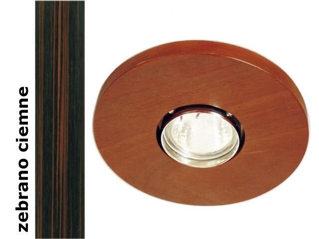 Oprawa punktowa sufitowa OCZKO STROPOWE okrągłe zebrano ciemne 1199O1G206 Cleoni