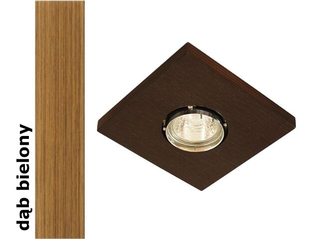 Oprawa punktowa sufitowa OCZKO kwadrat dąb bielony wersja żarowa 1199K1E208 Cleoni