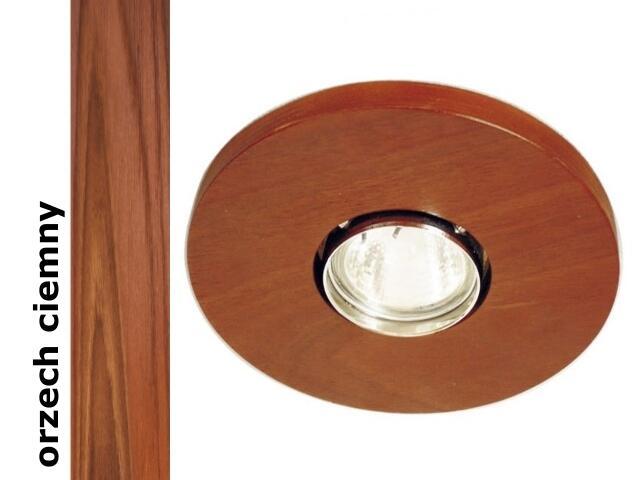 Oprawa punktowa sufitowa OCZKO koło orzech ciemny wersja żarowa 1199O1E209 Cleoni