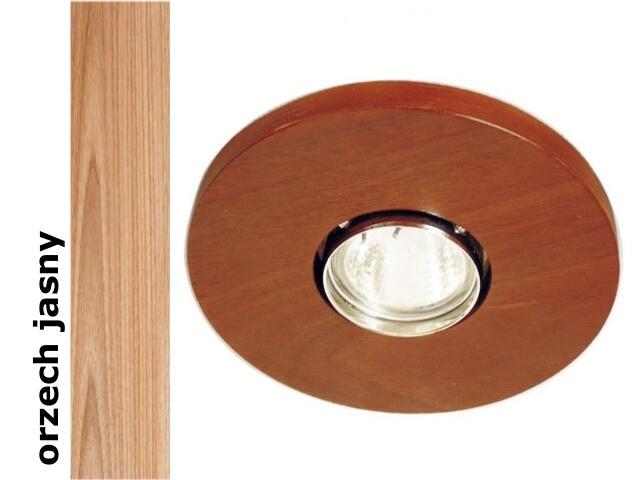 Oprawa punktowa sufitowa OCZKO koło orzech jasny wersja żarowa 1199O1E210 Cleoni