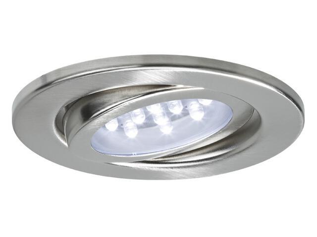 Oprawa punktowa sufitowa zestaw LED 3x0,8W żelazo satyna w zestawie zasilacz Paulmann