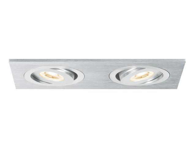 Lampa sufitowa Drilled AluDouLED wychylna 2x3W Paulmann