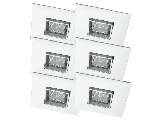 Oprawa punktowa sufitowa Premium Line Quadro wychylna 6x35W biała Paulmann