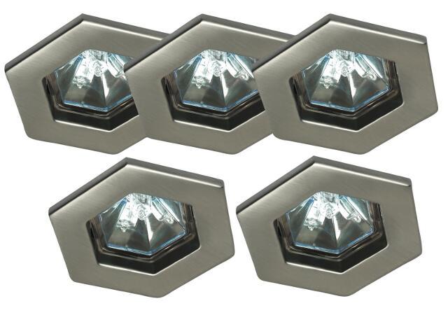 Oprawa punktowa sufitowa Quality Line TIP Hexa 5 szt. 5x20W żelazo satyna Paulmann