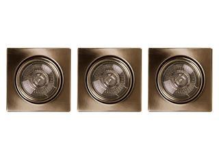 Oprawa punktowa sufitowa Cristaldream GU10 50W 2005311 3szt Spot-light