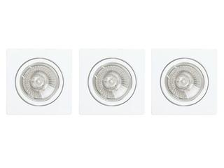 Oprawa punktowa sufitowa Cristaldream GU10 50W 2005302 3szt Spot-light
