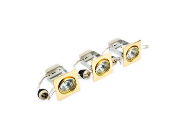 Oprawa punktowa sufitowa ruchoma HORIZONTAL zestaw 3x50W GU10 KHC-191-3 złota ANS