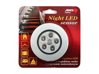Oprawa podszafkowa sensor NIGHTLED 5 x LED srebrna ANS