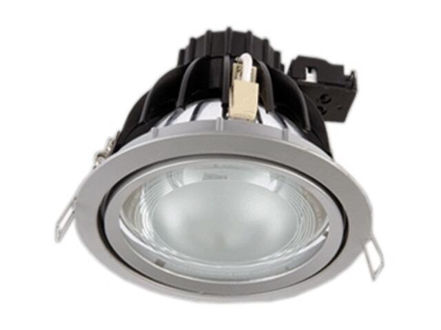 Oprawa downlight metalohalogenkowa 6507 srebrna Brilum