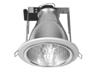 Oprawa downlight z odbłyśnikiem R-4000 satynowy chrom Brilum
