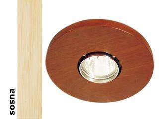 Oprawa punktowa sufitowa OCZKO koło halogenowe sosna 1199O1G201 Cleoni