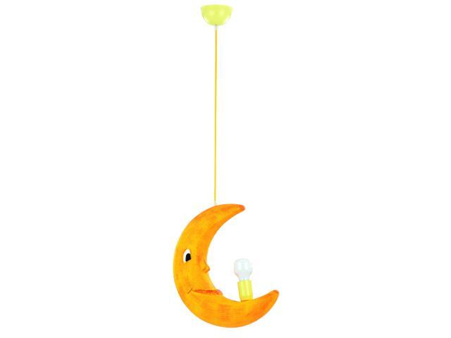 Lampa sufitowa dziecięca KSIĘŻYC 1xE27 60W pomarańczowa 1040 Alfa