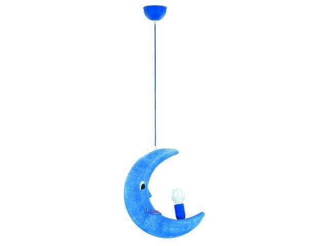 Lampa sufitowa dziecięca KSIĘŻYC 1xE27 60W niebieska 1041 Alfa