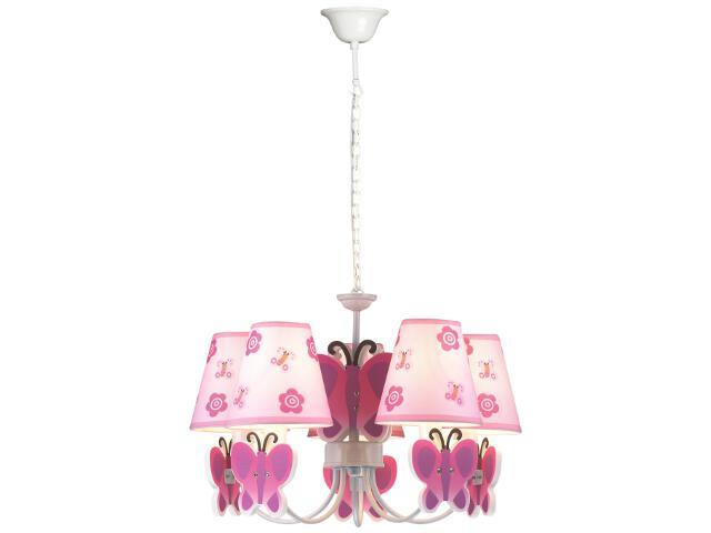 Lampa sufitowa dziecięca Motylek 5xE14 40W K-MD8069-5E Kaja