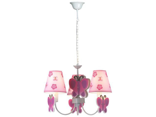 Lampa sufitowa dziecięca Motylek 3xE14 40W K-MD8069-3E Kaja